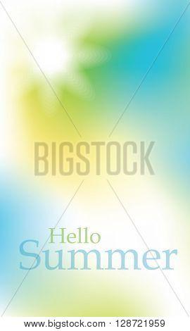 Hello summer - design element - background
