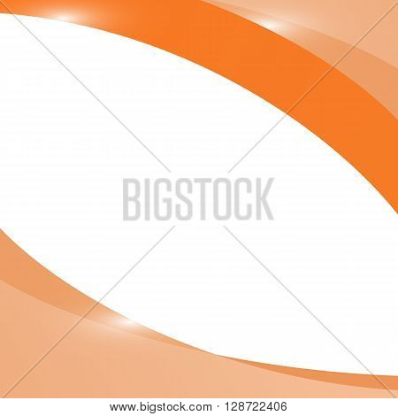 Abstract light orange wave background, stock vector