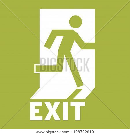 Emergency Exit Icon. Safe condition signEmergency exit. Square emergency exit symbol. All in a single layer. Vector illustration. Elements for design.