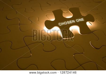 The word of chosen one on the puzzle