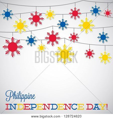 String Philippine Independence Day Card In Vector Format.