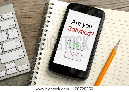 are you satisfied, survey on mobile phone