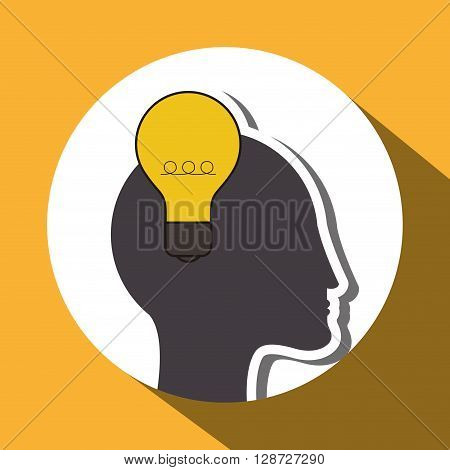 Think different  concept with icon design, vector illustration 10 eps graphic.