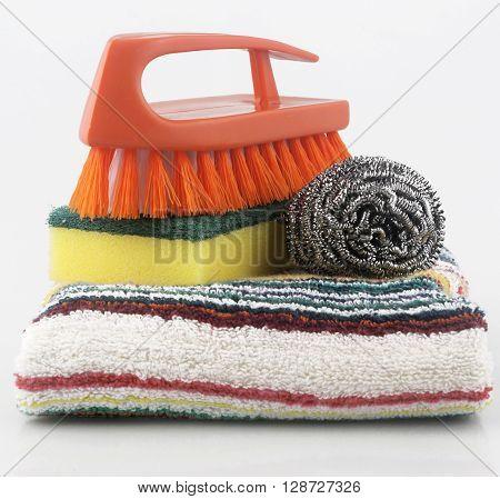 Set of cleaning equipment - studio shoot
