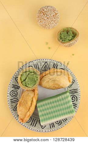 Asian traditional dessert, snack - top view