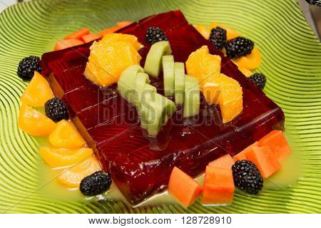 strawberry jelly with a sumer fresh fruit