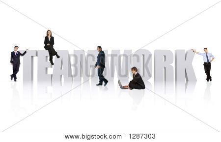 Negocio oficina trabajo en equipo