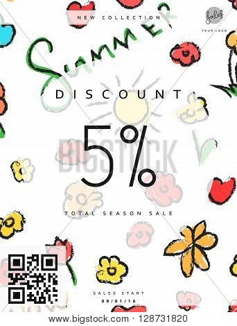 Discount 5. Discounts price tag. Summer discount. Black Friday. Clearance Sale. Discount coupon. Discount summer. Sale discount