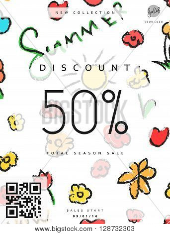 Discount 50. Discounts price tag. Summer discount. Black Friday. Clearance Sale. Discount coupon. Discount summer. Sale discount