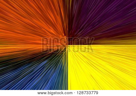 The Colourful Abstract Piramid Picture