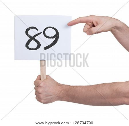 Sign With A Number, 89