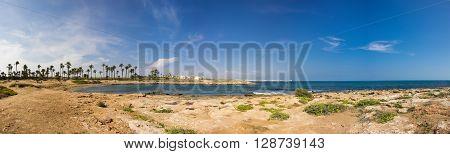 The coast of Mediterranean sea Torrevieja Spain