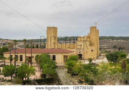 Old castle in province of Alicante Spain