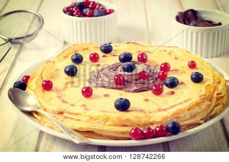 Pancakes And Berry Fruit