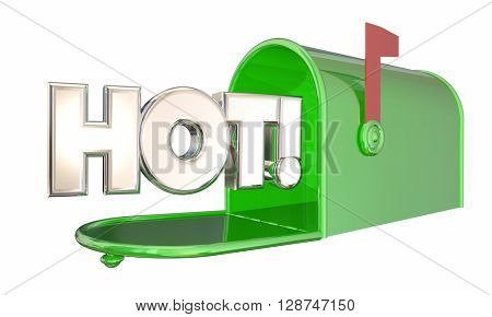 Hot News Message Mailbox Popular Product Word 3d Illustration