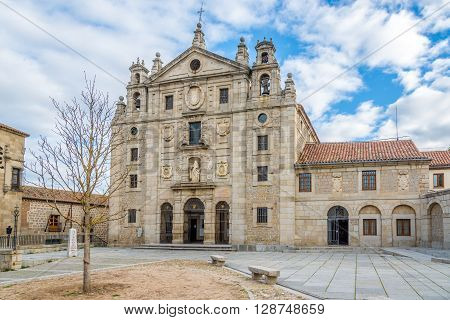 ÁVILA,SPAIN - APRIL 23,2016 - Convent Santa Teresa of Ávila in Spain. Ávila is a Spanish town located in the autonomous community of Castile and León .