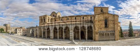 ÁVILA,SPAIN - APRIL 23,2016 - Basilica San Vincente in Avila. It is one of the best examples of Romanesque architecture in the country.