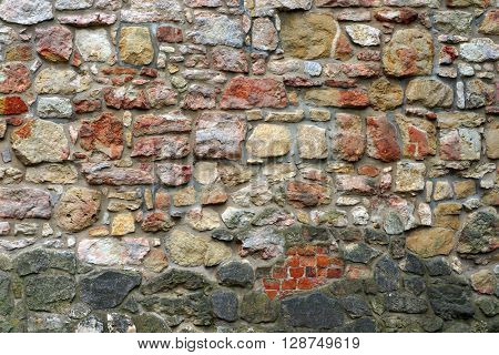 Ancient stone wall. Architectural textured background.