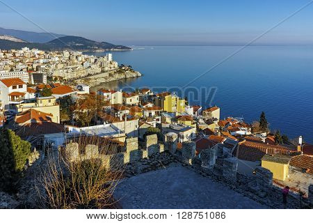 Panorama to old town of Kavala, East Macedonia and Thrace, Greece