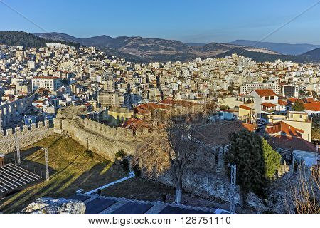 Ruins of fortress in Kavala, East Macedonia and Thrace, Greece