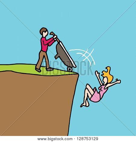 An image of a man dumping his girlfriend.