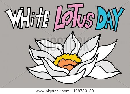 An image of a white lotus day flower.