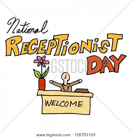 An image of a national receptionist day