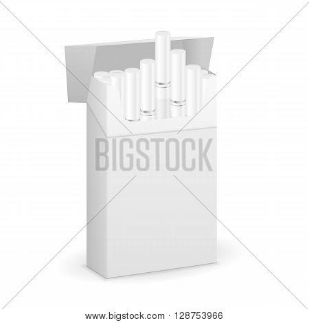 Cigarette box on a white background. Vector illustration.