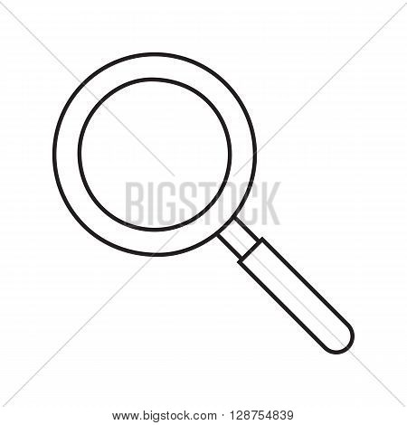 Line icon magnifying glass. Web icon. Vector illustration.