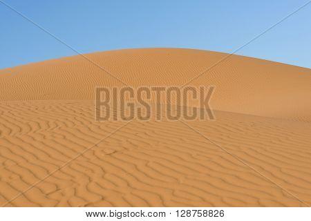 Sand dunes in the sahara desert Morocco
