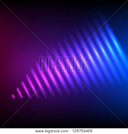 Sound Wave Blurry Purple Background Presentation