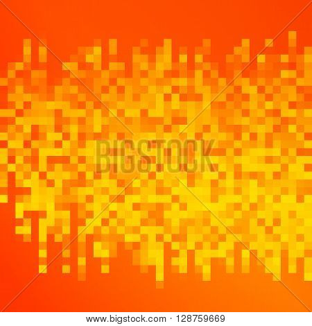 Square Mosaic Orange Background Brochure Layout Page