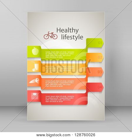 Template Flyer A4 Brochure Layout Healthy Lifestyle