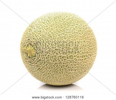 Melon Melon slices isolated on white background.