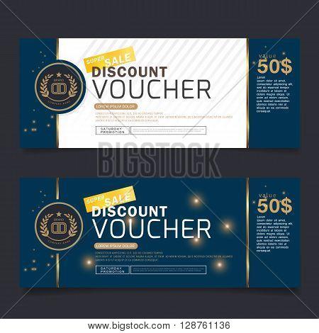 Gift Voucher Premier Gold Vector coupon design