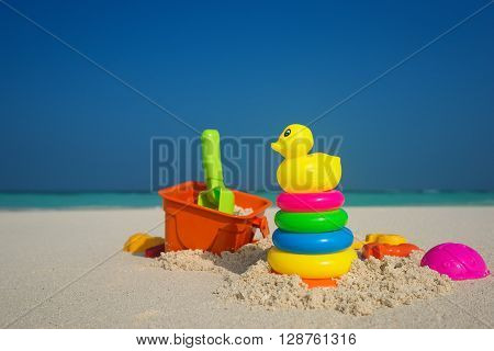 Beach Toys In The Sand At The Beach