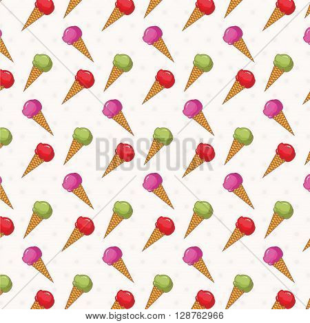Seamless pattern of ice cream .vector illustration template