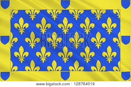 Flag of Ardeche is a departement in the Auvergne-Rhone-Alpes region of south-central France. It is named after the River Ardeche.