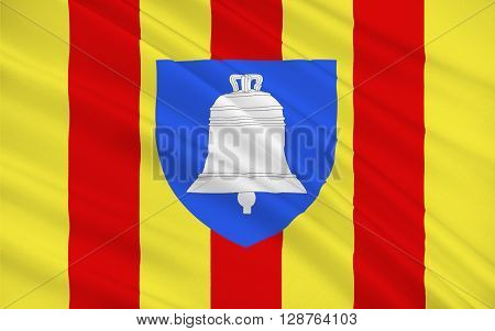 Flag of Ariege is a department in the Languedoc-Roussillon-Midi-Pyrenees region of southwestern France named after the Ariege River. Its capital is the town of Foix.