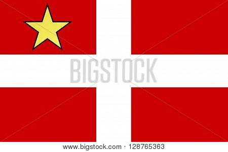 Flag of Chambery is a city in the department of Savoie located in the Rhone-Alpes region in south-eastern France