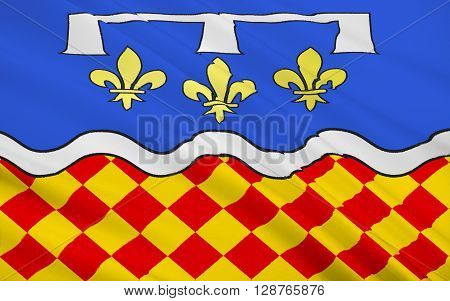 Flag of Charente - department of France one of the departments in the region of Poitou - Charentes. The administrative center - Angouleme.