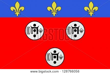 Flag of Chartres is a commune and capital of the Eure-et-Loir department in France