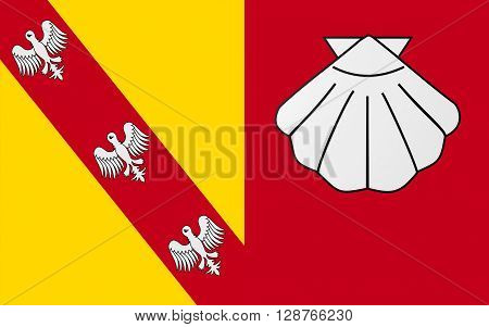 Flag of Chateau-Salins is a commune in the Moselle department in Alsace-Champagne-Ardenne-Lorraine in north-eastern France.