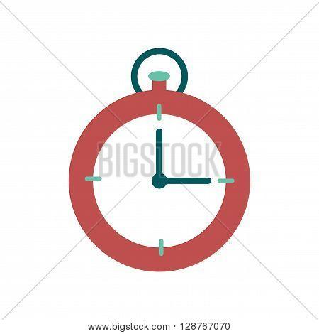 Flat web icon on white  background stopwatch