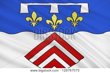 Flag of Eure-et-Loir is a French department named after the Eure and Loir rivers
