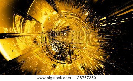 3D rendering, abstract technology background