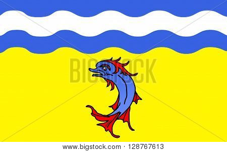 Flag of Isere is a department in the Auvergne-Rhone-Alpes region in the east of France named after the river Isere.