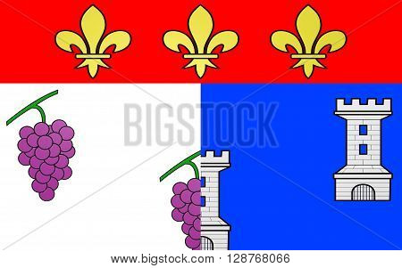 Flag of Les Andelys is a commune in the Eure department in Haute-Normandie in northern France.