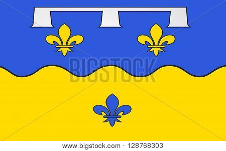 Flag of Loir-et-Cher is a department in the Centre-Val de Loire region France