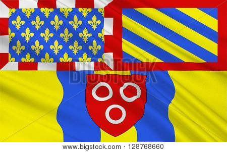 Flag of Macon historically anglicized as Mascon is a small city in east-central France. It is the prefecture of the department of Saône-et-Loire located in Burgundy.